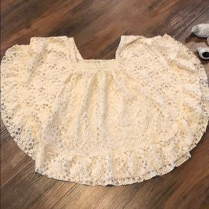 Cute lace butterfly top.